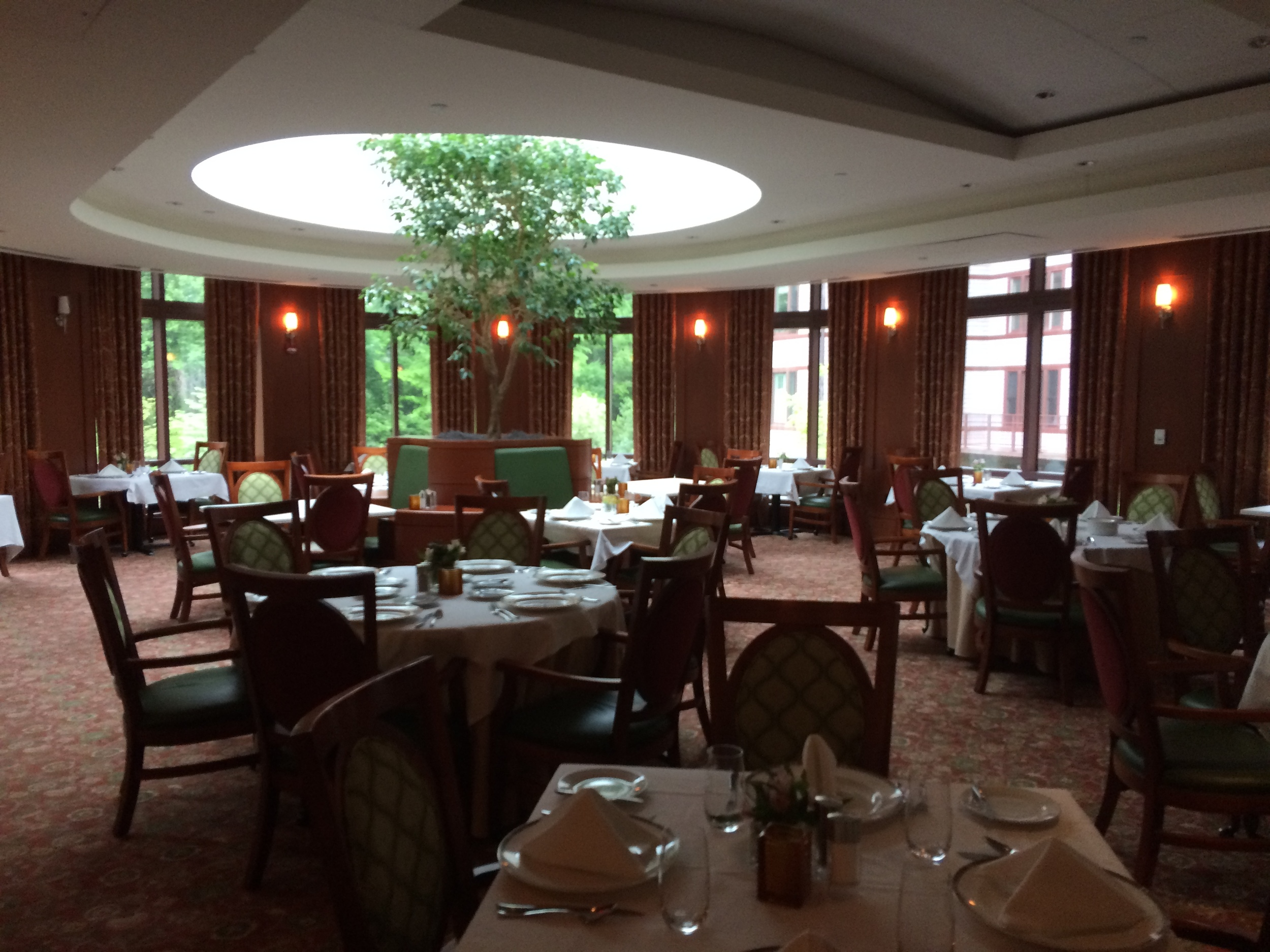 The main dining room at Fox Hill.