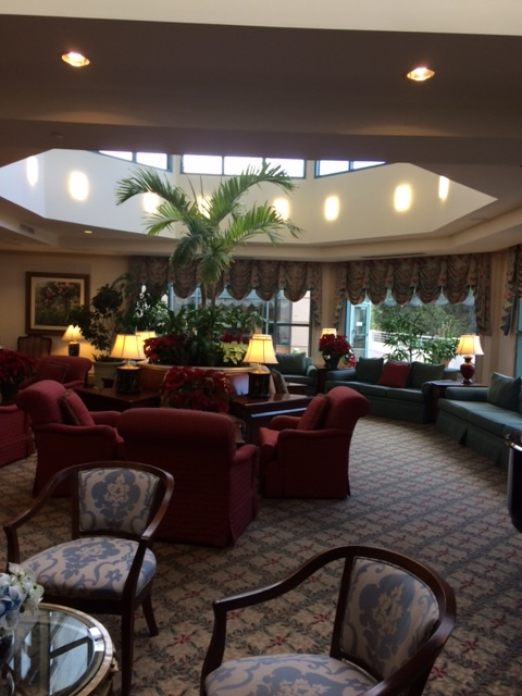 A lounge in the Five Star Premier Residences of Chevy Chase
