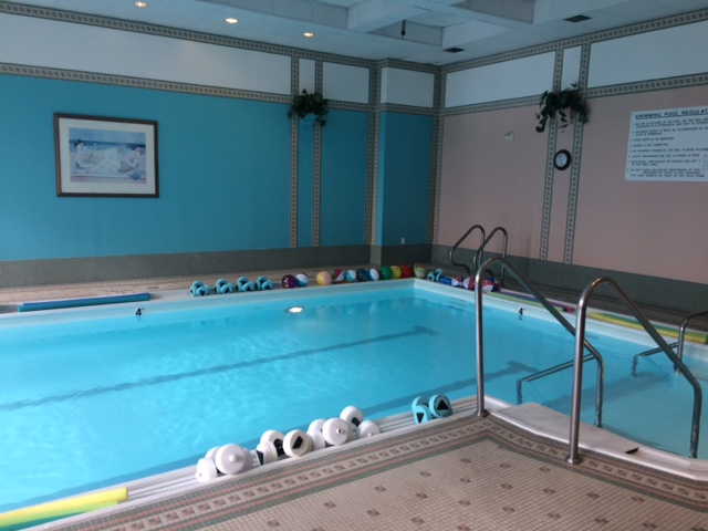The indoor pool at Five Star