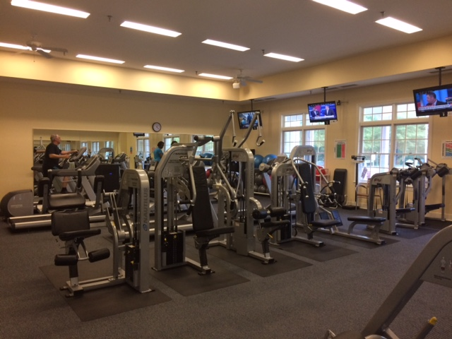 The fitness center at Central Parke at Victoria Falls.