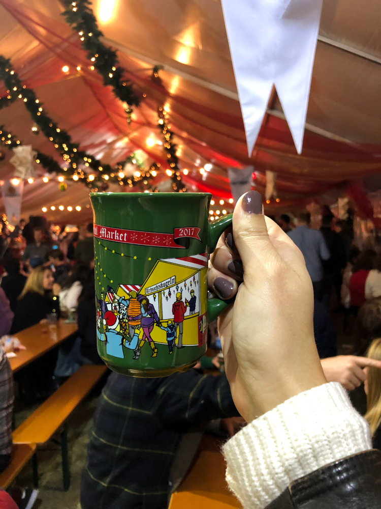 Have you ever tried Mulled Wine? The German Market is definitely the place to try it!