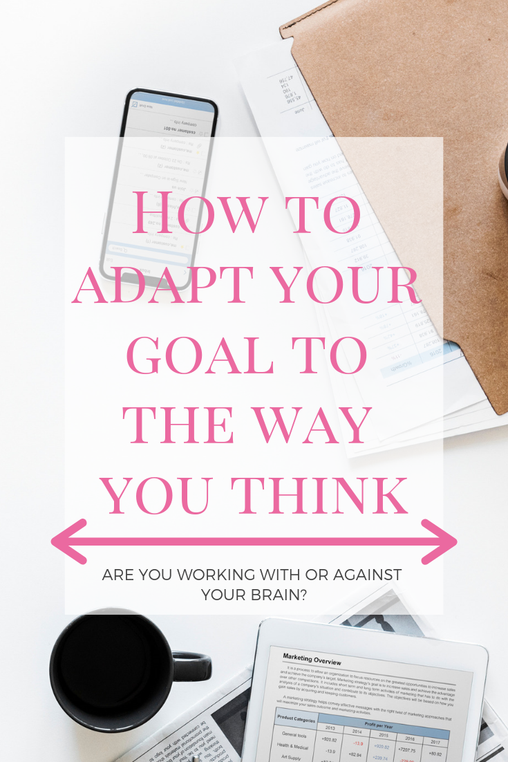 When you set goals, are you working with how your brain can accomplish those goals, or are you trying to make yourself be something that you're not? Here's what I've found from altering how I made goals and tips on how you can be more successful with your goals! #makinggoals #howtobesuccessfulwithgoals