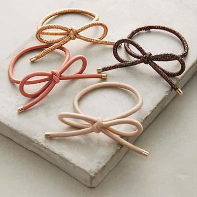 Bow Hair Tie Set               $12  Anthropologie