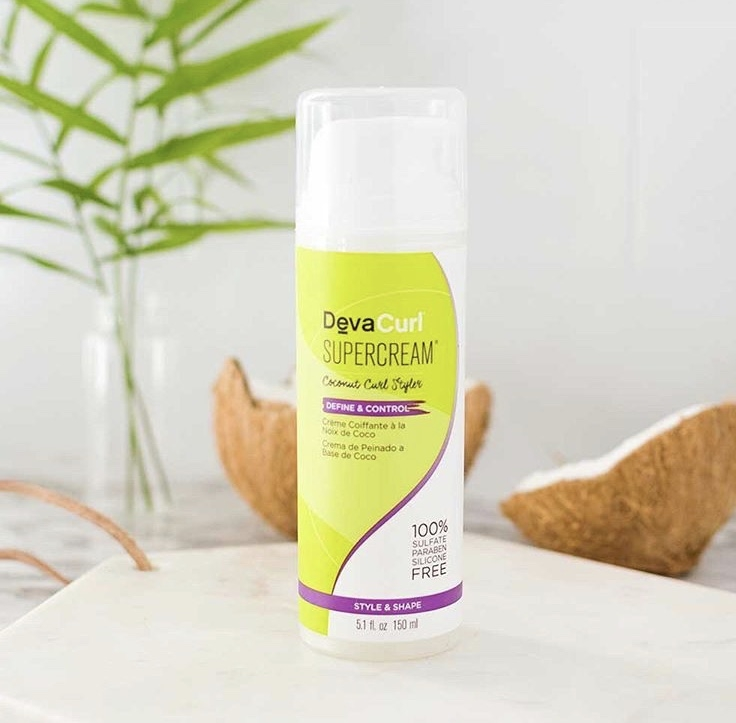 DevaCurl Supercream - This coconut infused cream does it all! It can smooth, soften, lengthen, moisturize, define, volumize, twist-out, tame frizz or add shine!