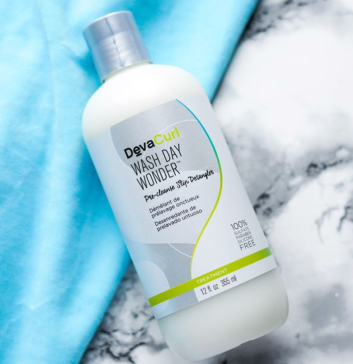 DevaCurl Wash Day Wonder - This pre-cleanse makes hair wash day easier! Find out how - Read 10 tips for an Easy, Hassle Free Wash Day.