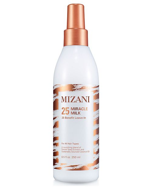 MIZANI 25 Miracle Milk - This light-weight leave-in hair treatment helps detangle with less breakage, moisturizes and protects hair from heat damage.