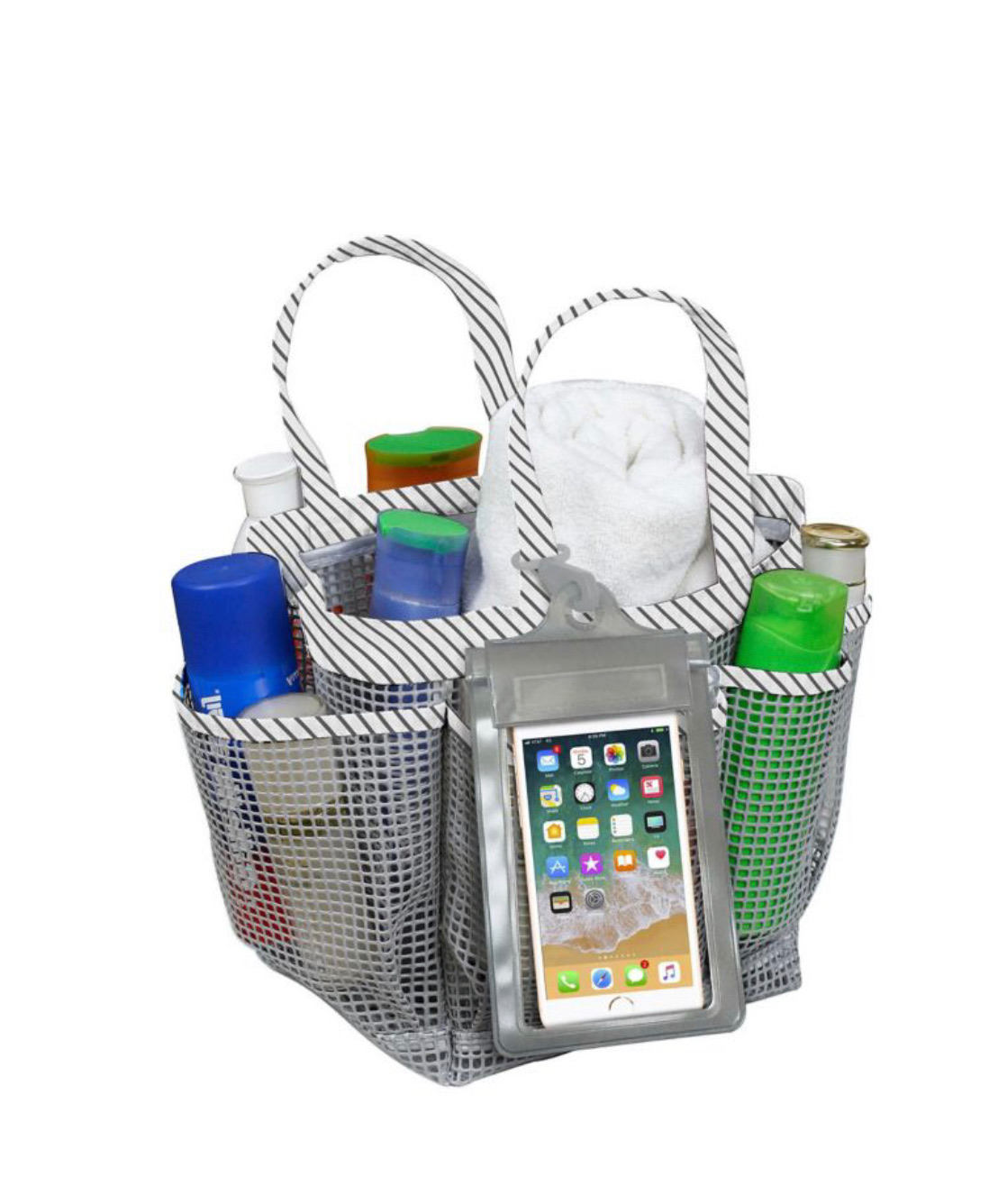 Mesh Shower Caddy Tote
