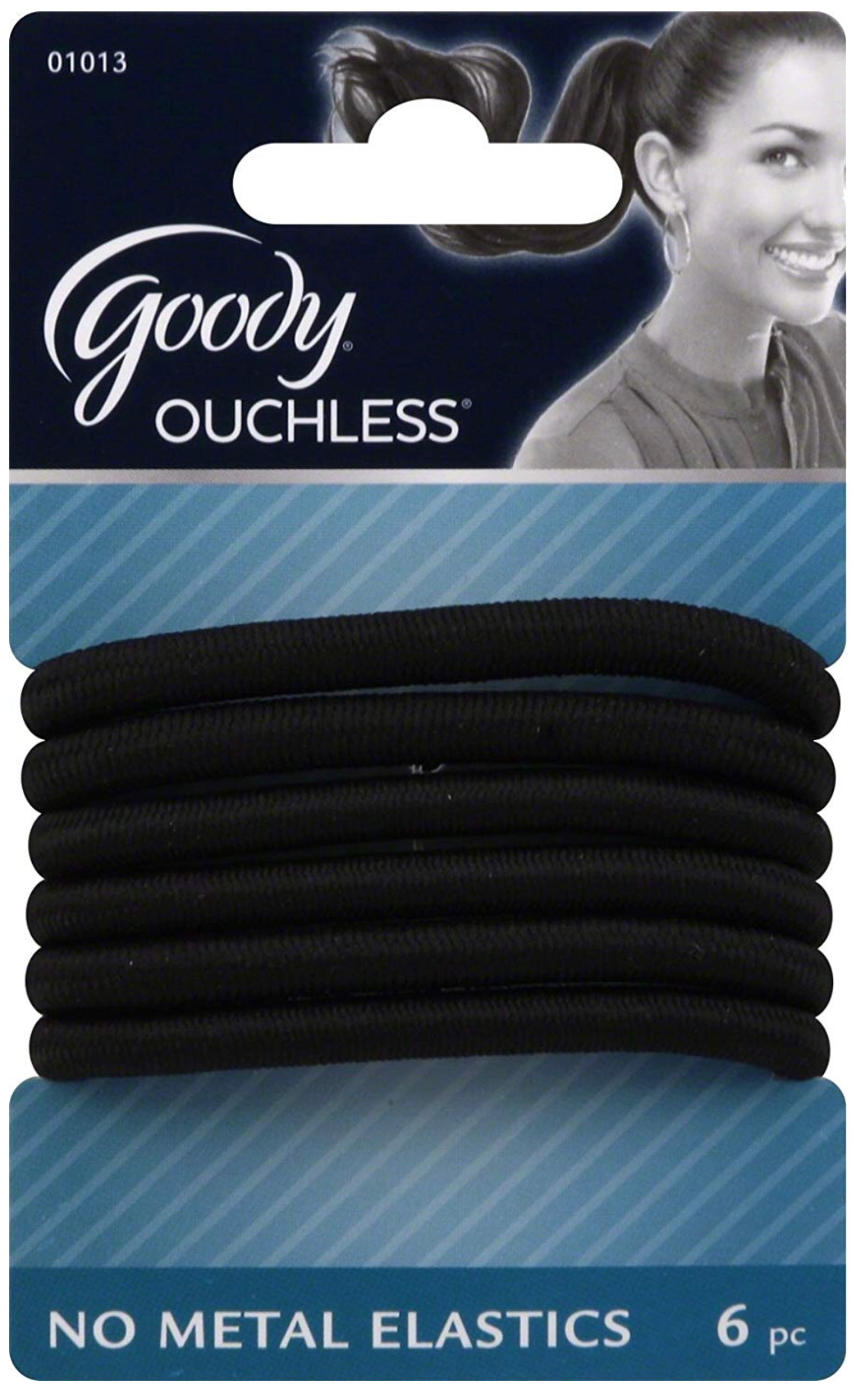 Goody Ouchless Extra Thick Black Elastics