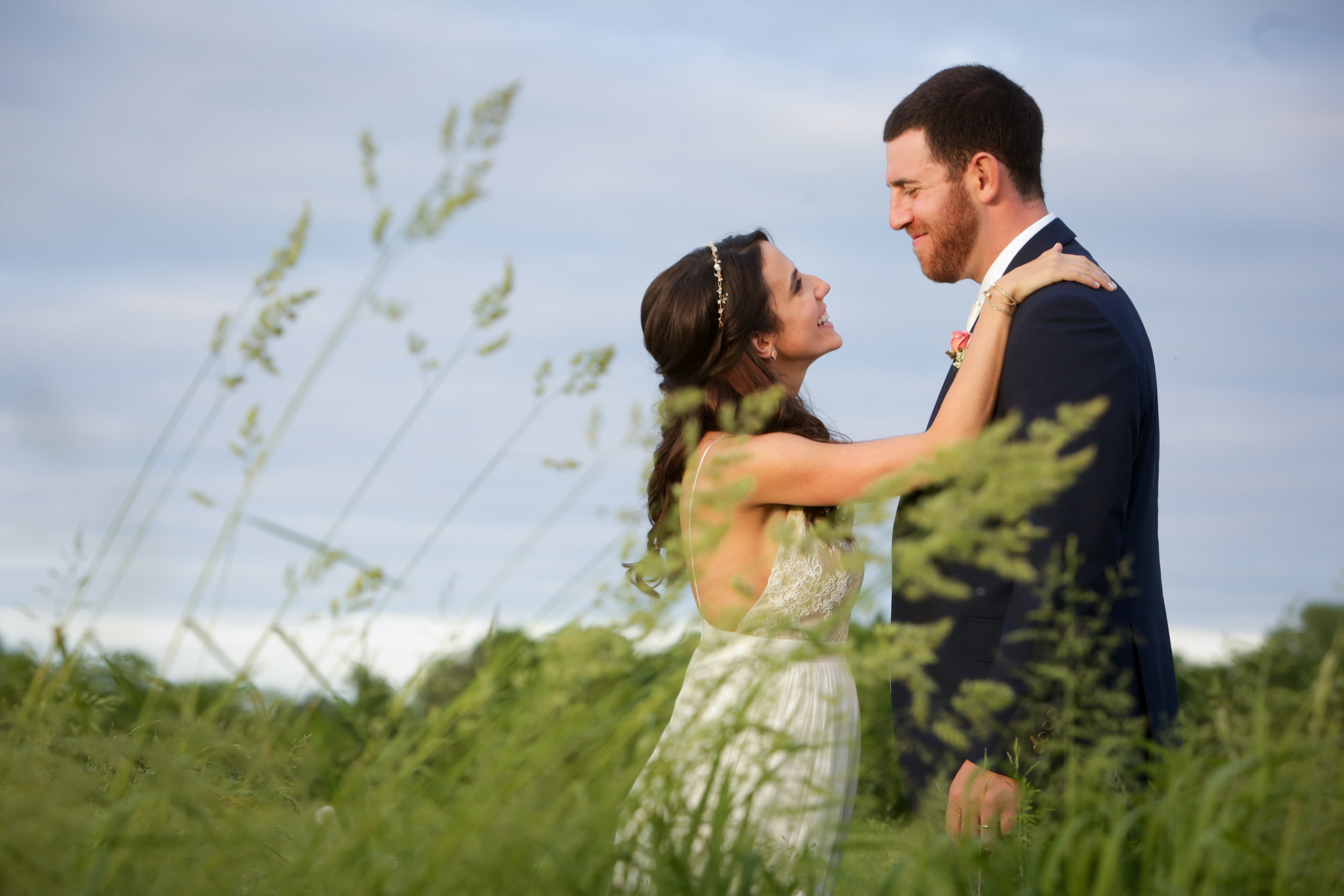 bride and groom in field 2