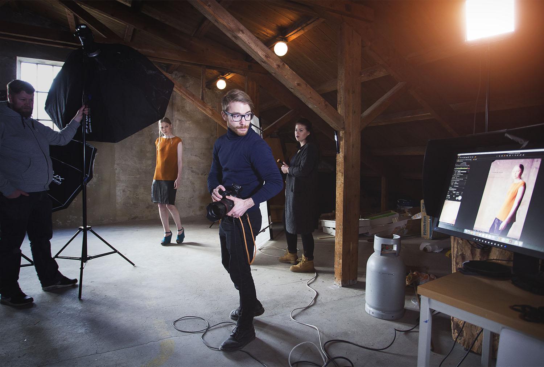 Behind the scenes på Fashionshoot