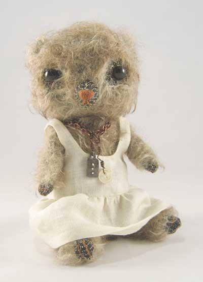 Celie in white linen dress