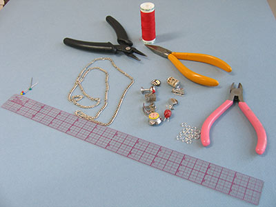 Supplies for charm necklace