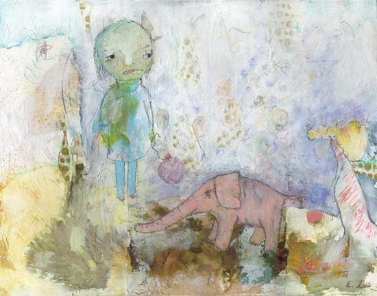 Girl with Elephant - Circus Time