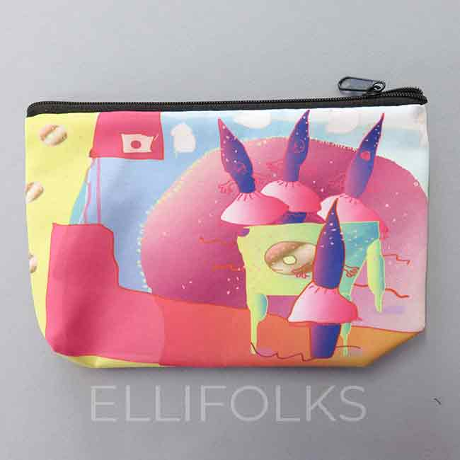 Dolls and Donuts - small zipper pouch