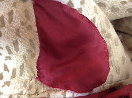 Rayon lining pockets added to jacket side seams.