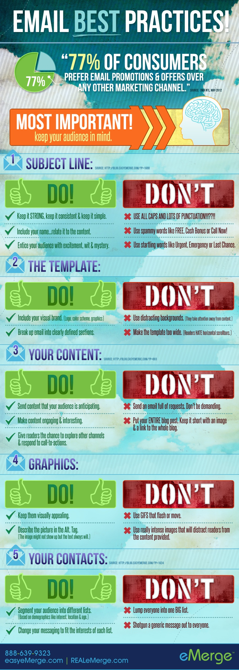 Click to see all Dos and Don'ts of email communication