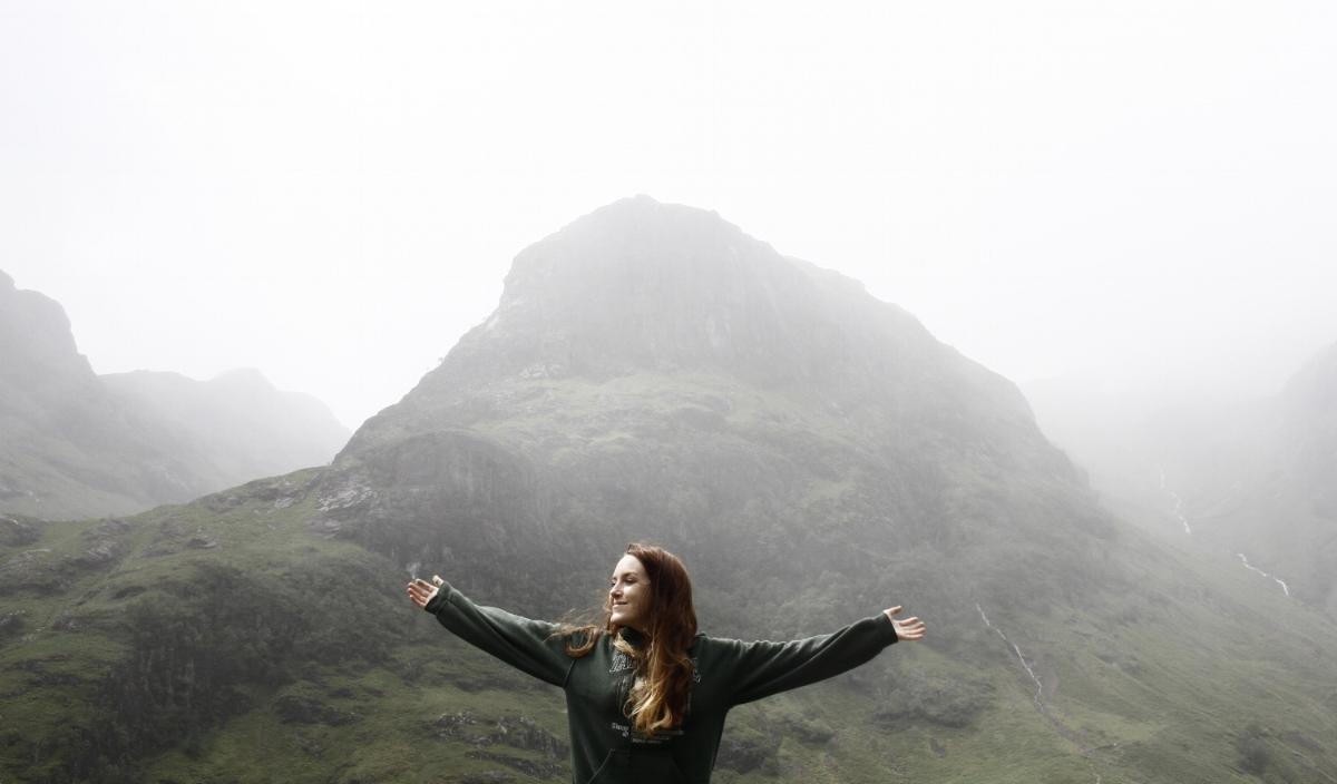 self portrait, glen coe, scottish highlands, 2015