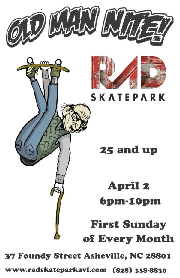 RAD Skatepark Asheville, NC Old Man Nite