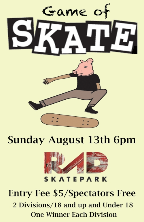 RAD Game of Skate Asheville, NC RAD Skatepark