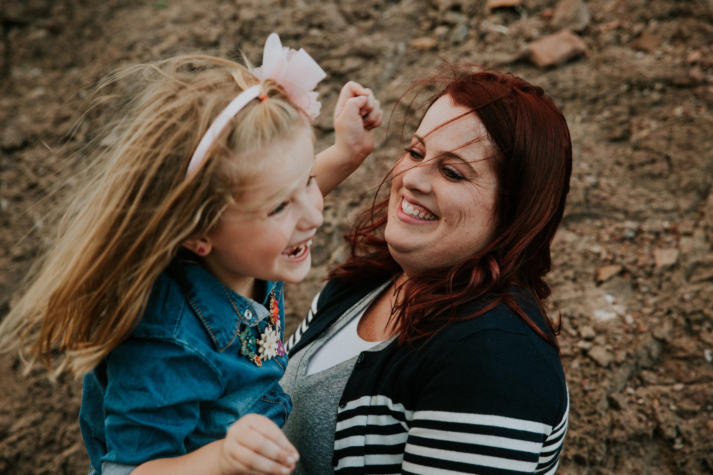 Lifestyle Family Photography - Las Vegas Photographer - Desert Landscape - Henderson, NV - Mother Daughter Session