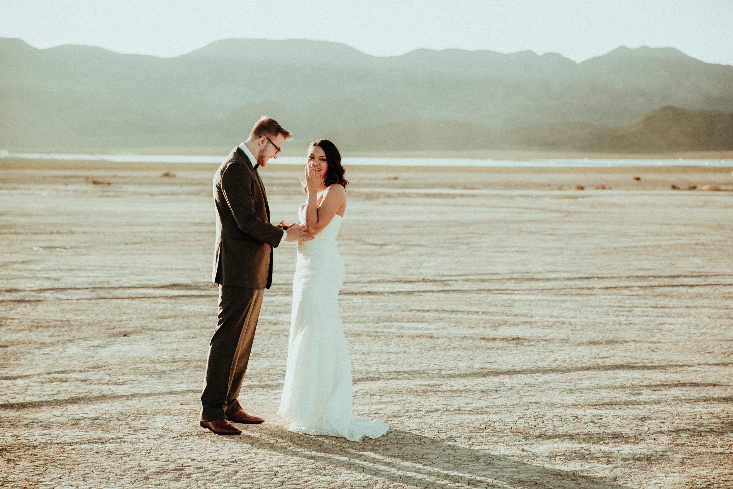 Daniel + Jessica - Henderson, NV - Las Vegas Wedding - Elopement Photographer - Seattle Wedding Photographer - First Look