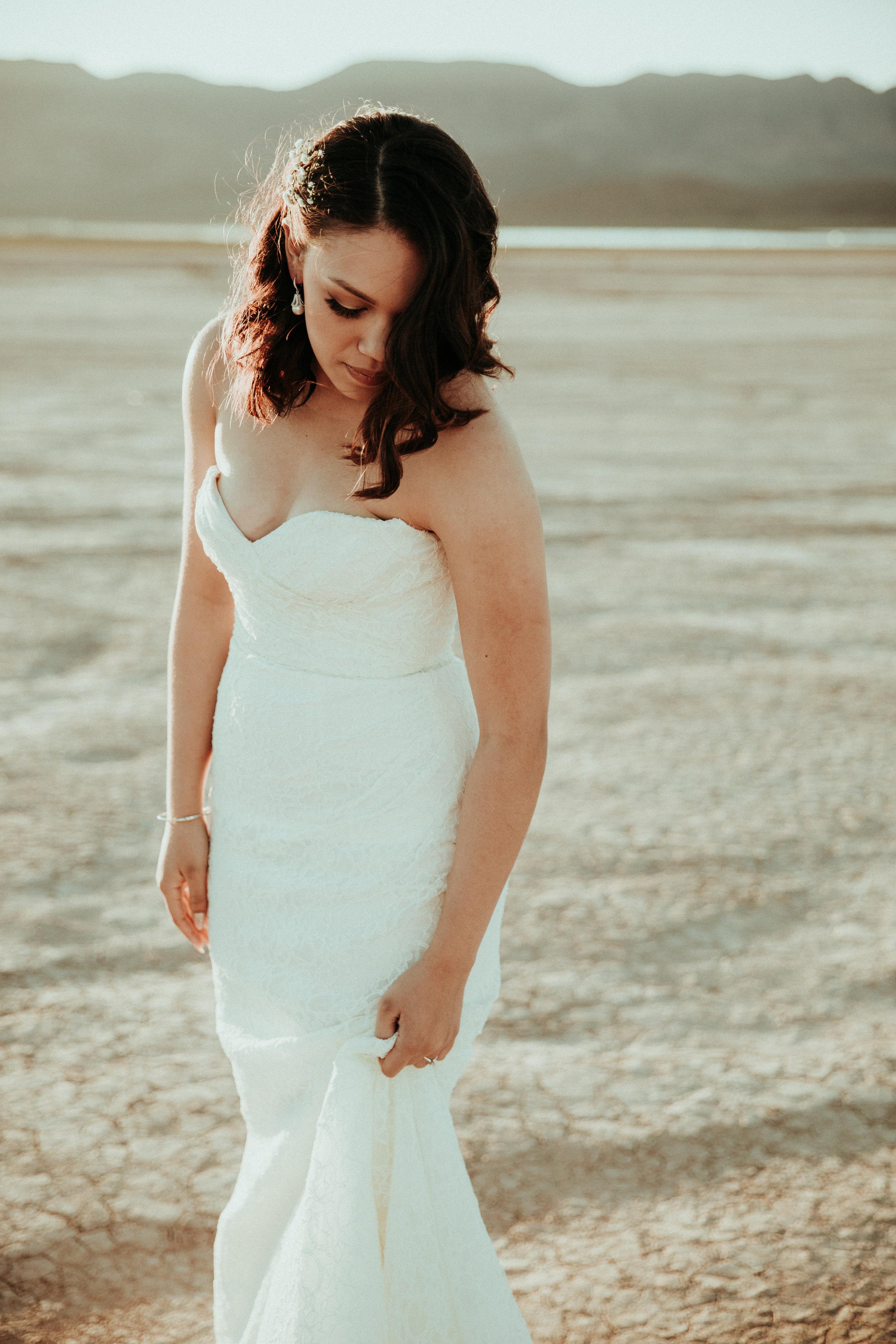 Seattle Wedding Photographer - Las Vegas Wedding Photography - First Look Session - Bridal Portrait - Henderson, NV - Lace Wedding Dress - PNW Wedding Photographer