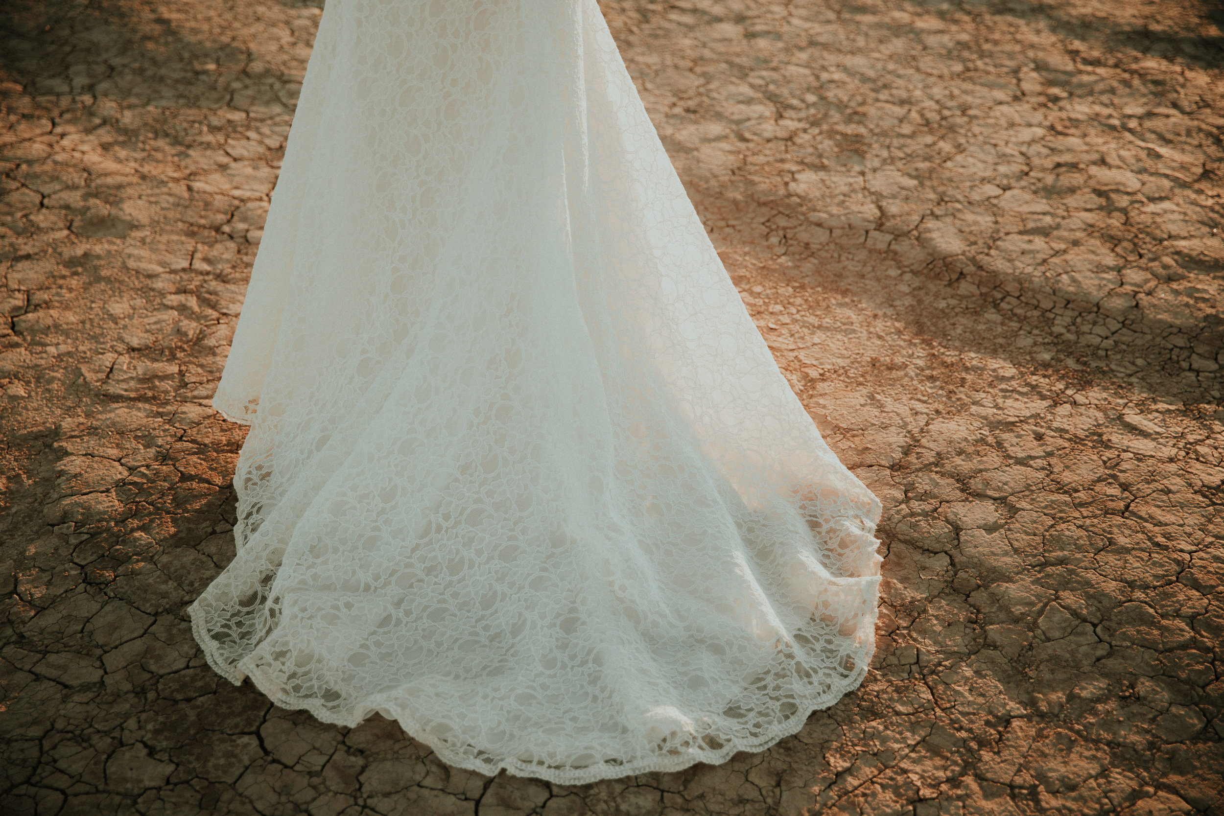 Las Vegas Wedding Photography - Kamra Fuller Photography - Jessica + Daniel - Seattle Wedding Photographer - Detail Shot - The Dress - White Lace - Dry Lake Bed - First Look - Bridals