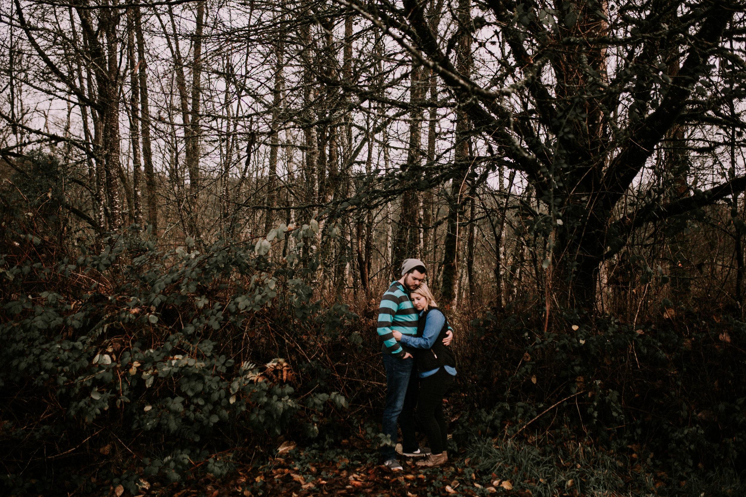 Seattle Engagement Photographer - Engaged - Seattle Wedding Photographer - Seattle Couple's Session - PNW Wedding Photographer - PNW Elopement Photographer - Las Vegas Wedding Photographer - California Wedding Photographer - Fog - Flaming Geyser State Park - Moody Photographer - Couple's Session - Anniversary Session - Auburn, WA - Washington Couple's Photographer - Portland Wedding Photographer - Portland Elopement Photographer - - Madi + Dano - Kamra Fuller Photography - Romantic