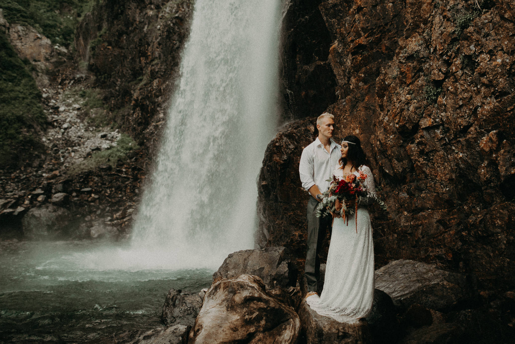 KamraFullerPhotography.StyledBohemianElopement - Seattle Wedding Photographer - Seattle Elopement Photographer - Port Angeles Wedding Photographer - Boho - Bohemian - Waterfall Elopement - Styled Shoot - PNW Wedding Photographer - Earthy Tones - Bohemian Elopement -204.jpg
