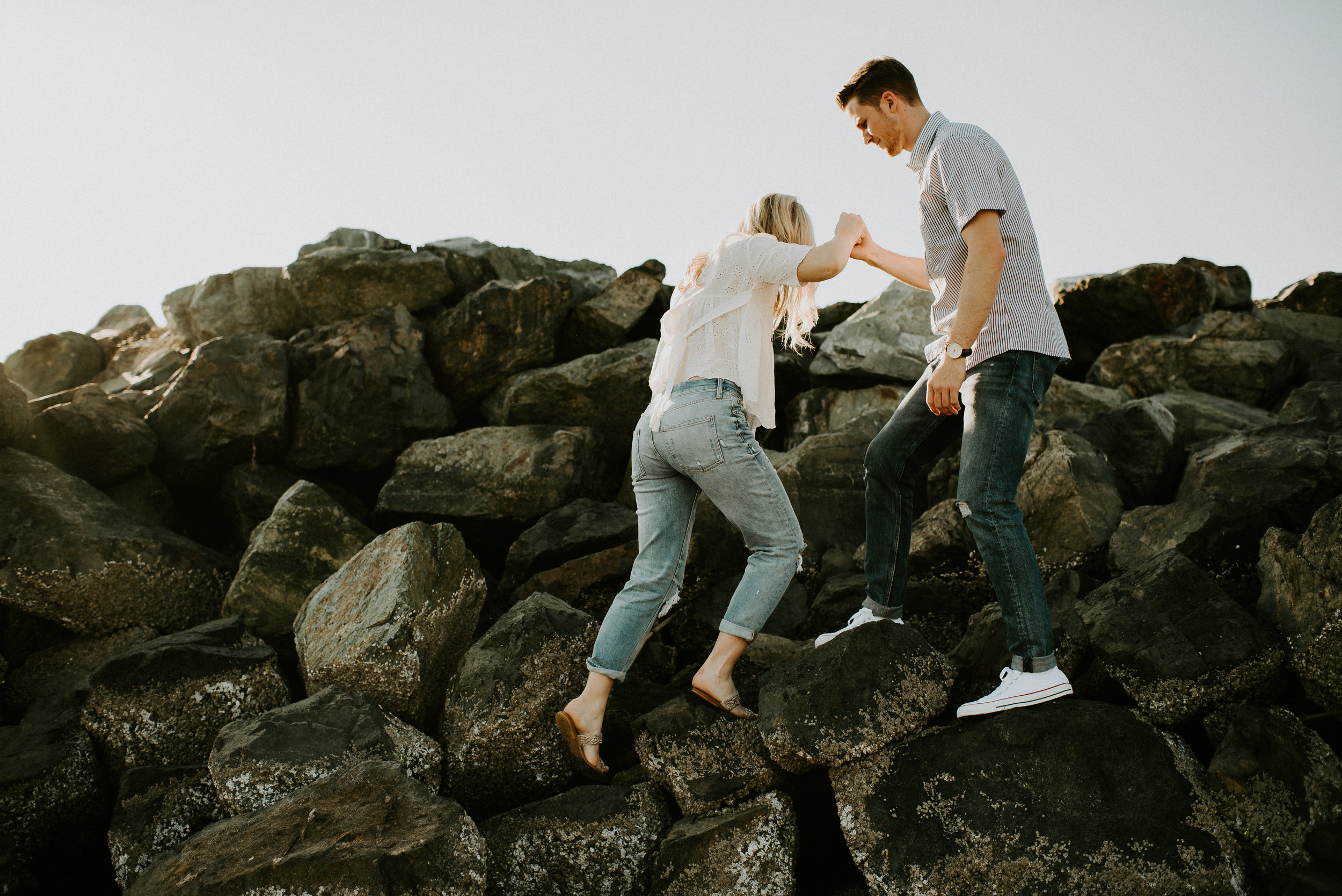 Hannah + Calvin Engagement Session - Kamra Fuller Photography - Edmonds, WA Ferry to Kingston, WA - Seattle Wedding Photographer