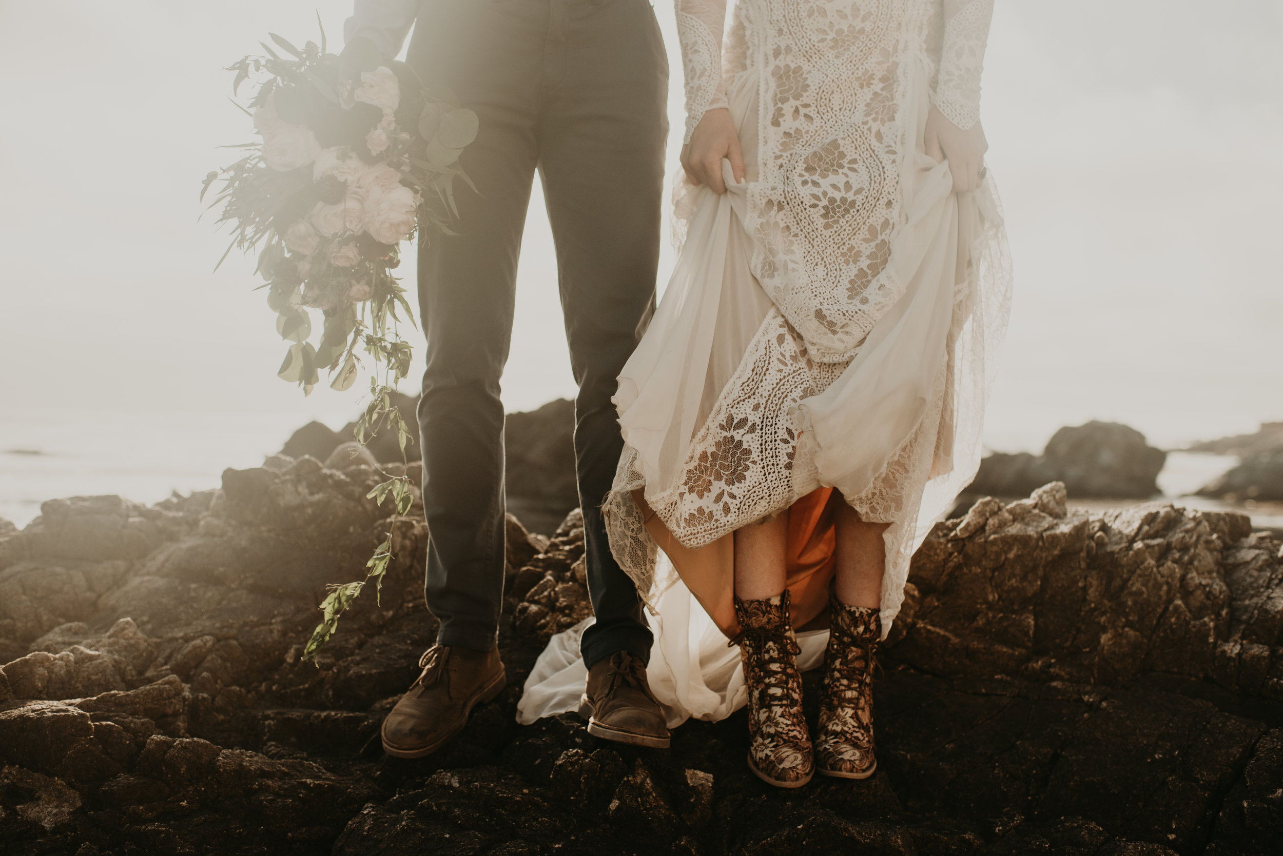 California Wedding and Elopement Photography - Big Sur Adventure Elopement and Monterey Intimate Wedding Reception by Seattle Elopement Photographer Kamra Fuller Photography