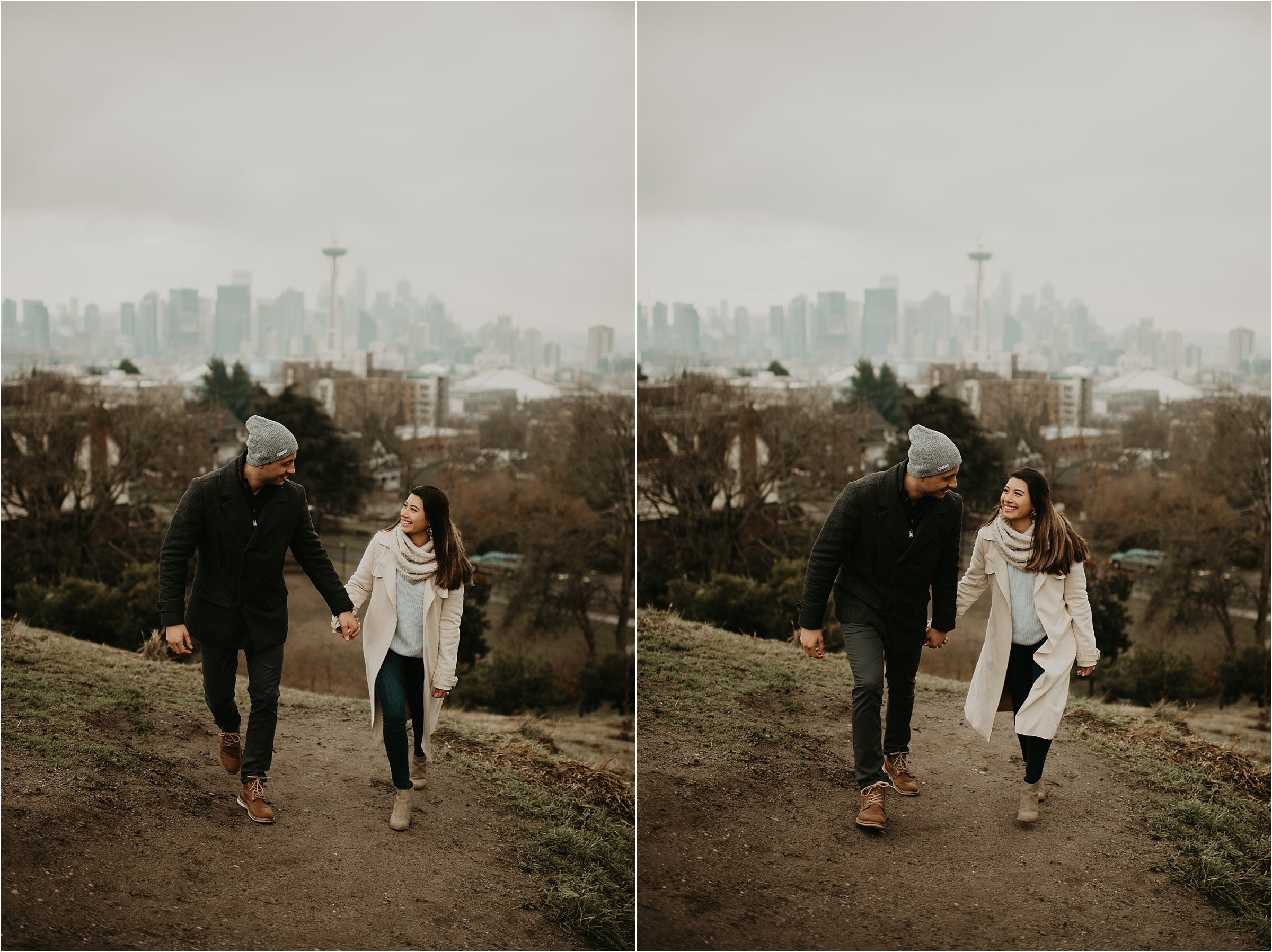 Seattle Proposal at Kerry Park by Seattle Wedding Photographer Kamra Fuller Photography