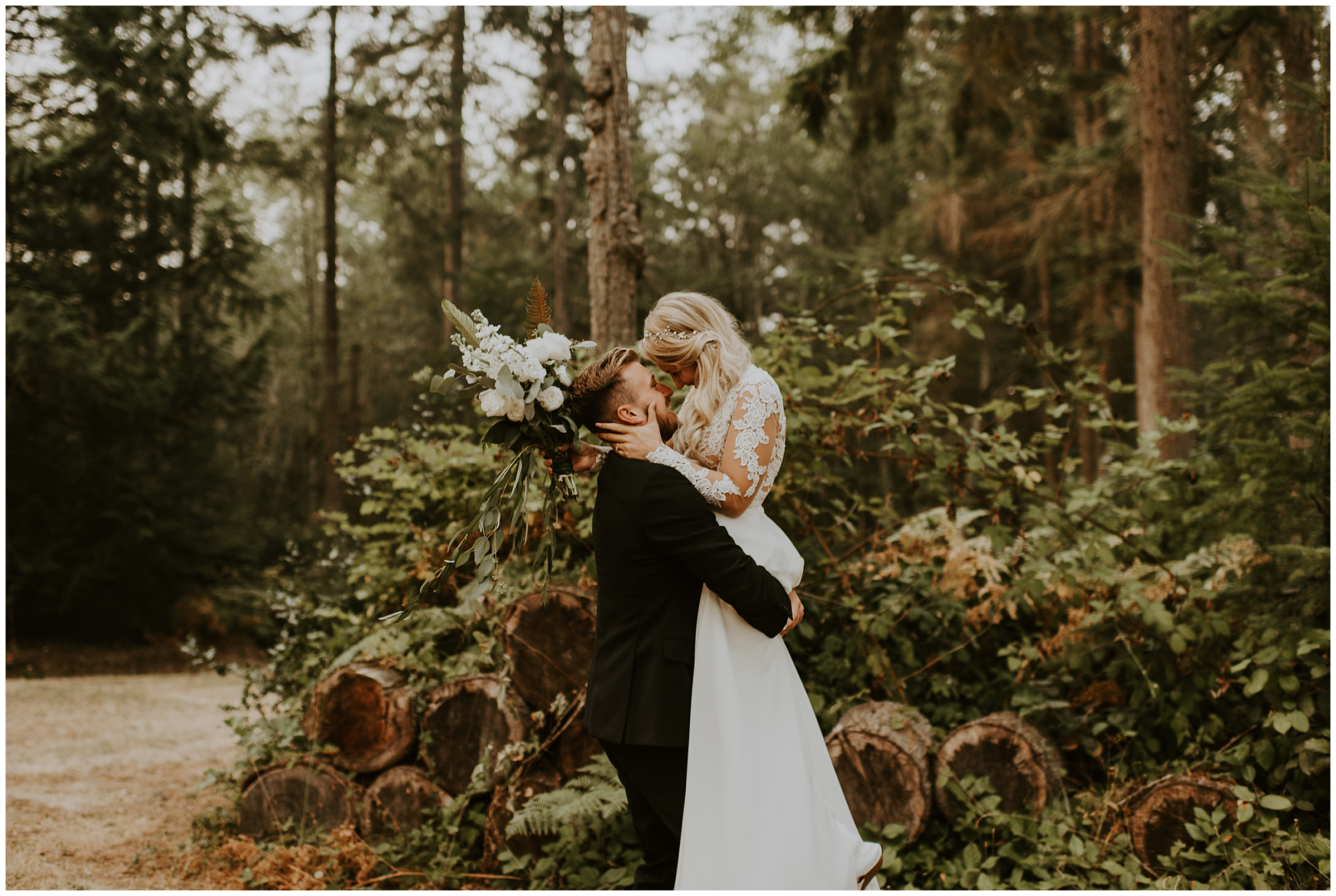 Cameo + Dawson's romantic backyard wedding in Olalla, WA by Seattle Wedding Photographer, Kamra Fuller Photography