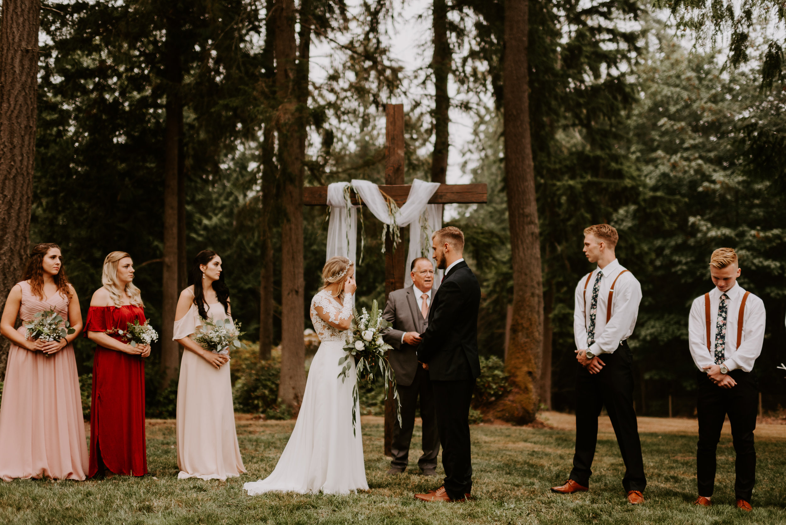 Cameo + Dawson Wedding - Ceremony Photos - Backyard Wedding in Olalla, Washington - Kamra Fuller Photography-141.JPG