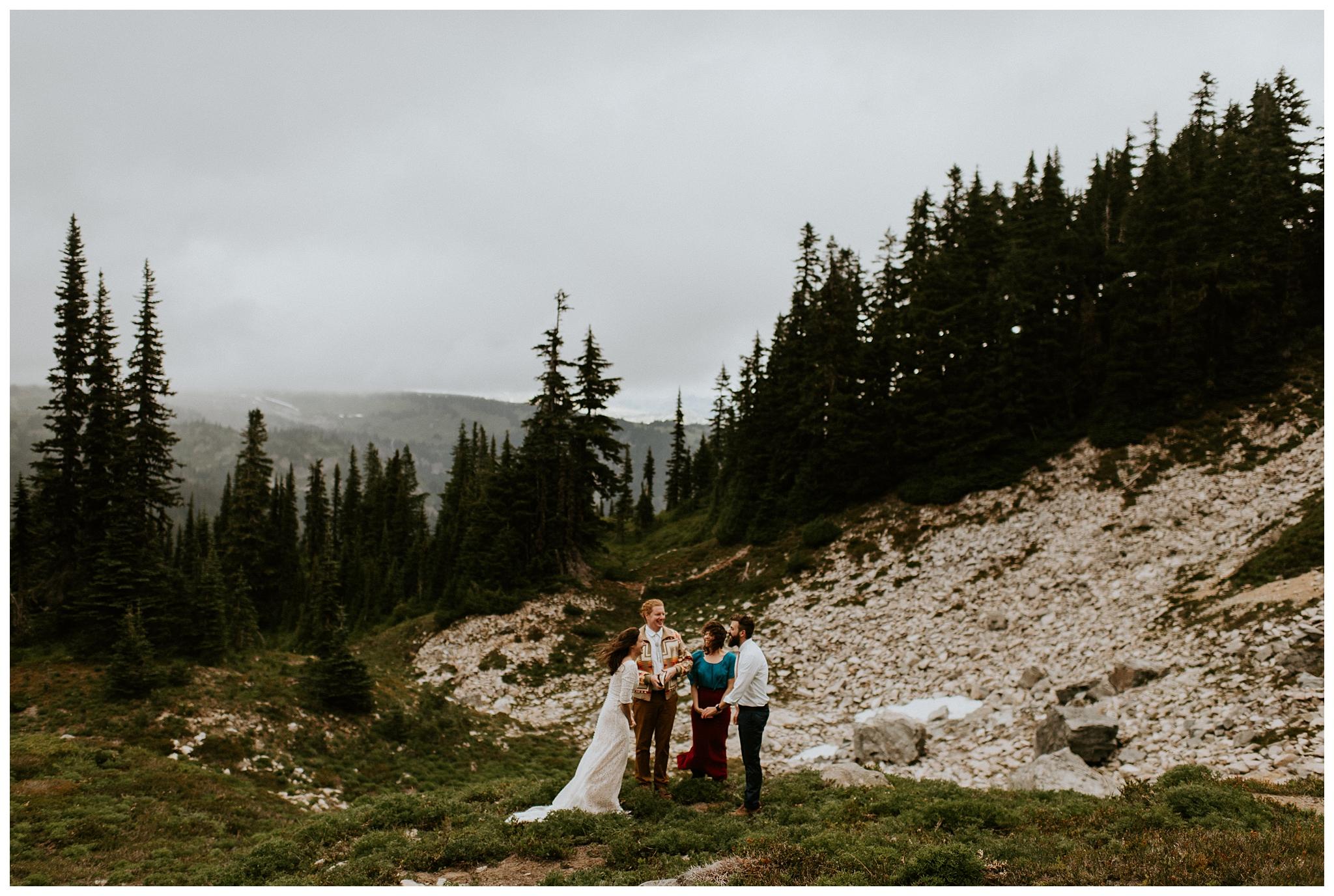 Pinnacle Peak Adventure Elopement at Mt. Rainier National Park by Seattle Elopement Photographer, Kamra Fuller Photography - Seattle Wedding Photographer