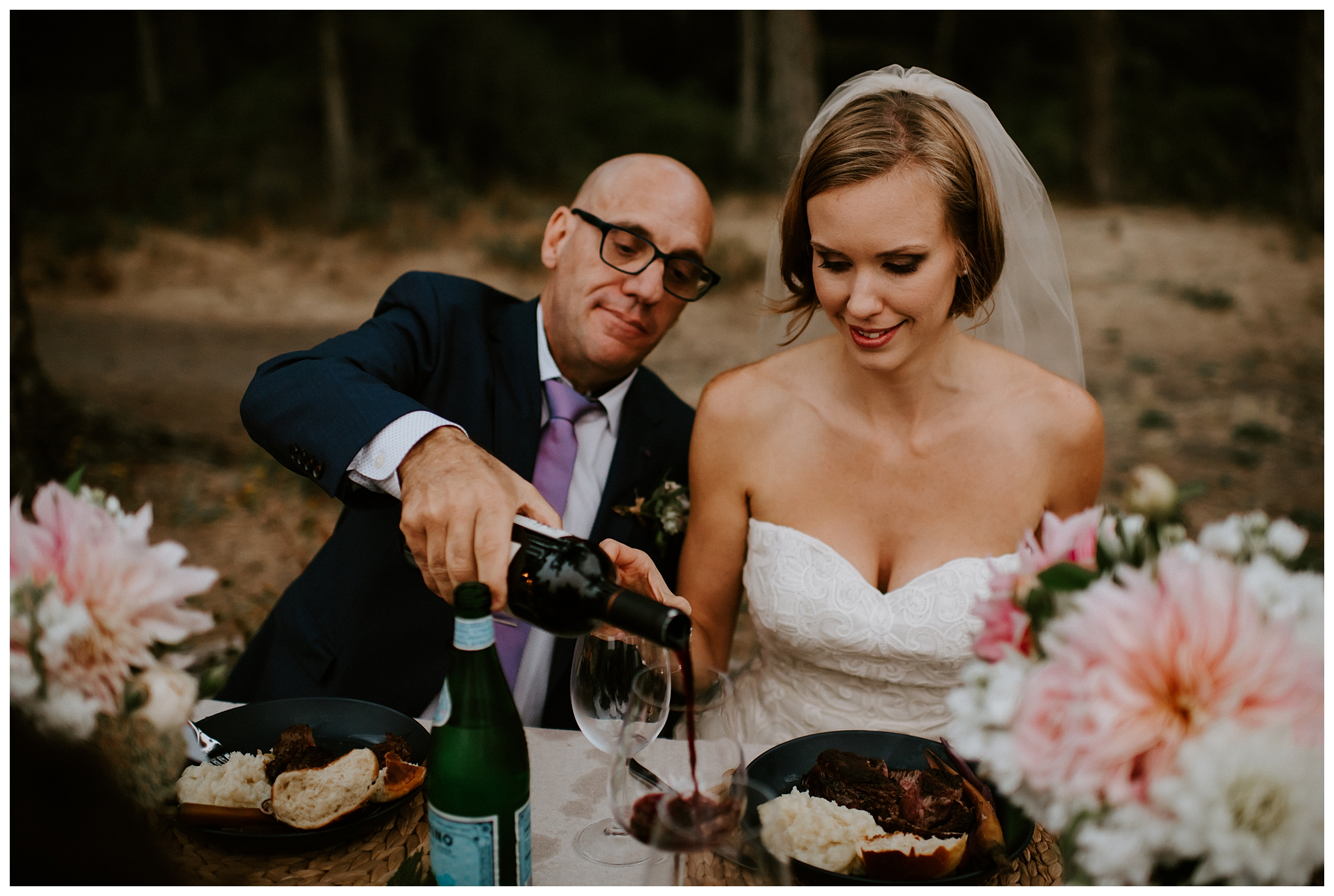 Moody Deception Pass State Park Elopement by Seattle Wedding Photographer, Kamra Fuller Photography