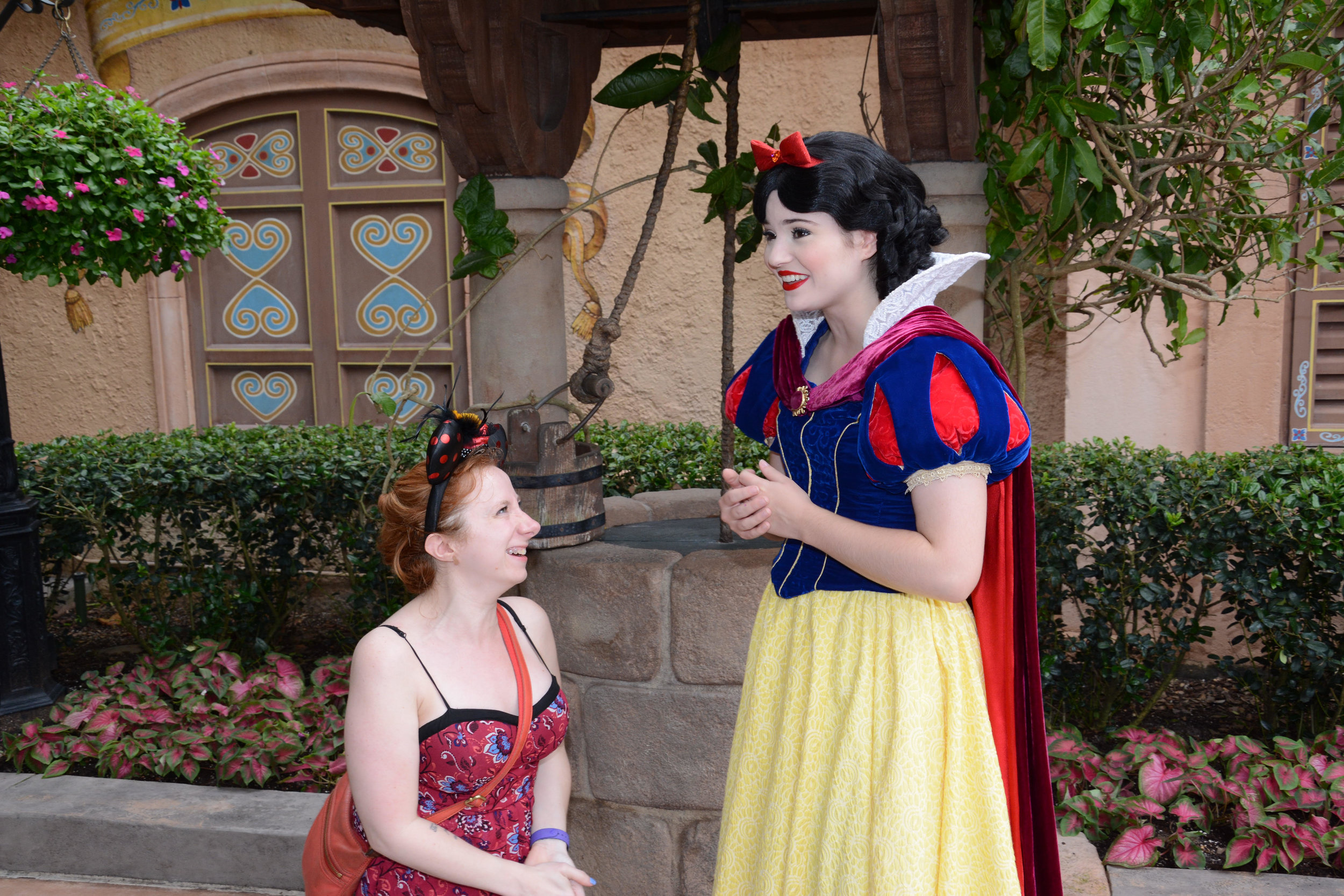 Meeting Snow White in Epcot!