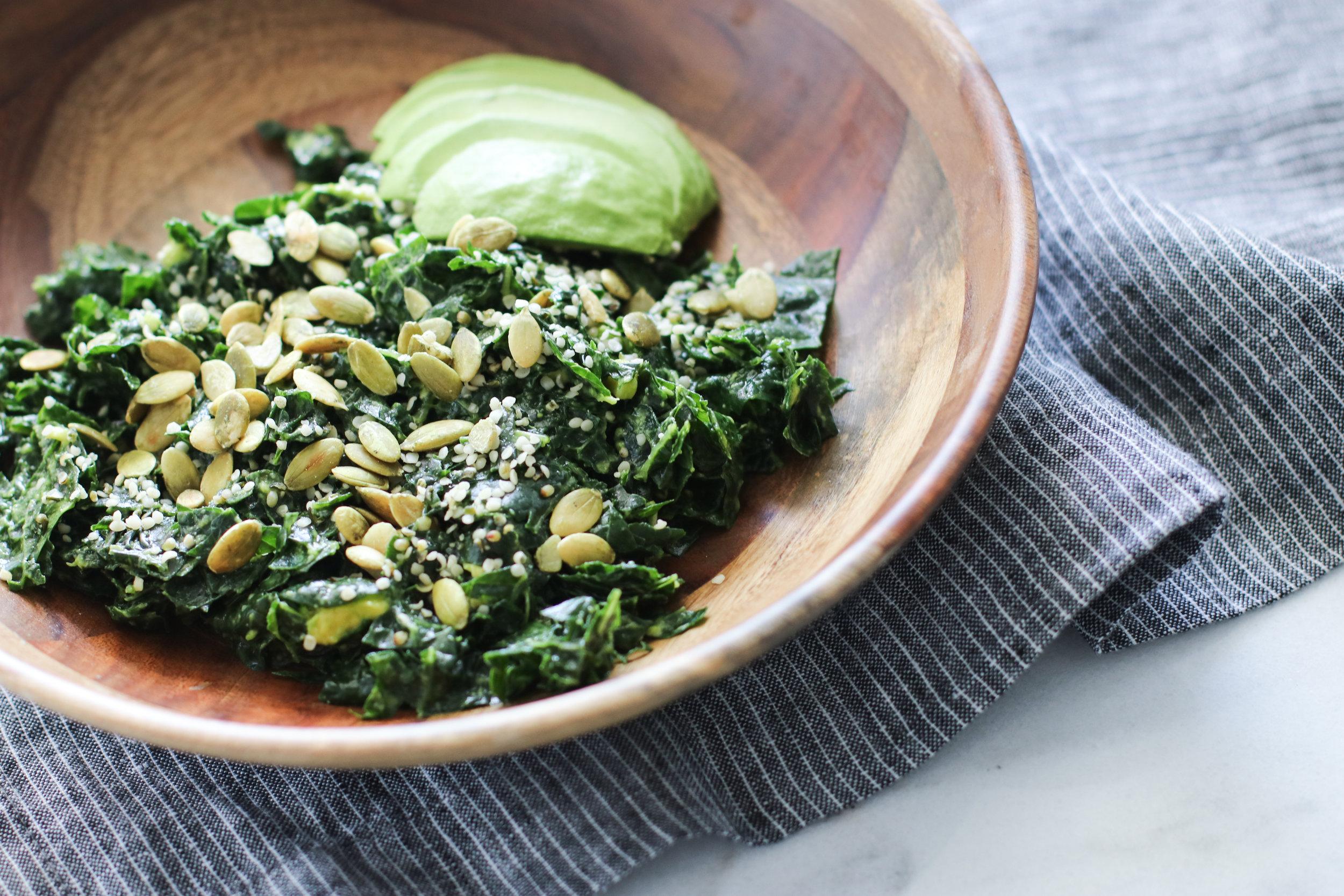 Massaged Kale Salad with Hemp Seeds + Ume Plum Vinegar.jpg