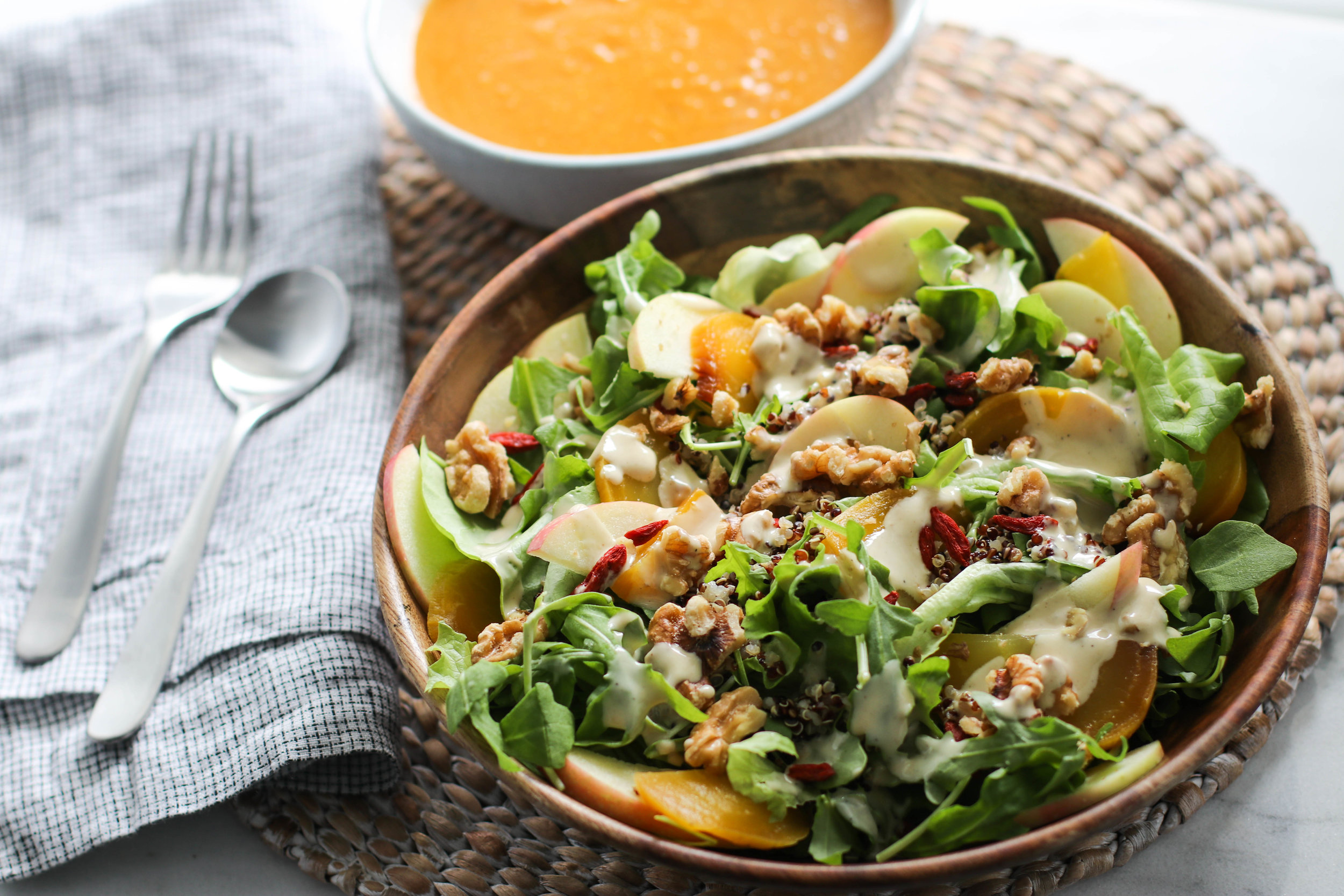 Maple Tahini Dressing_Apple Beet Salad_Pantry Lentil Soup 3.jpg