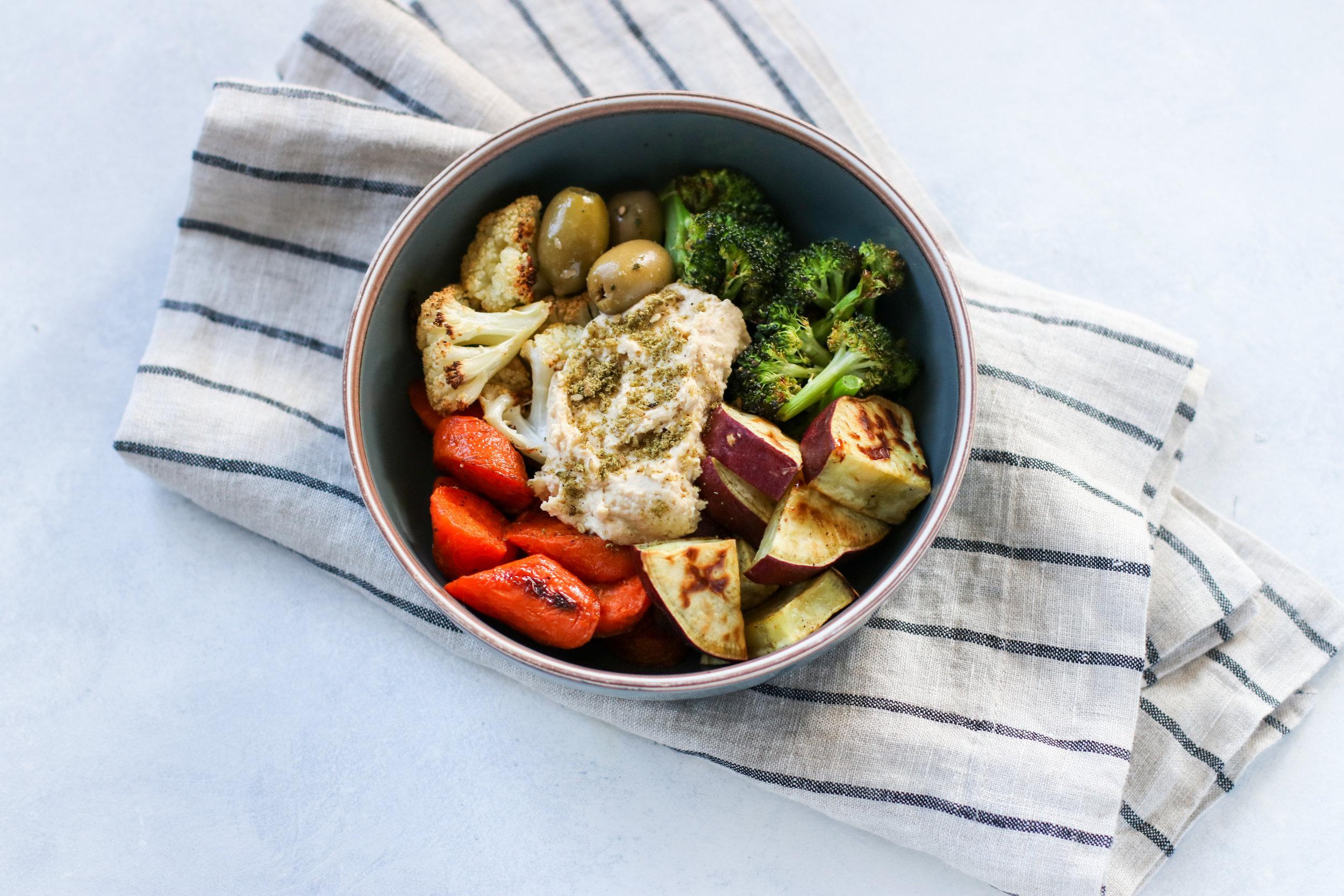 Roasted Veggies + Hummus