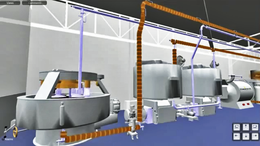 The factory as depicted in a game engine