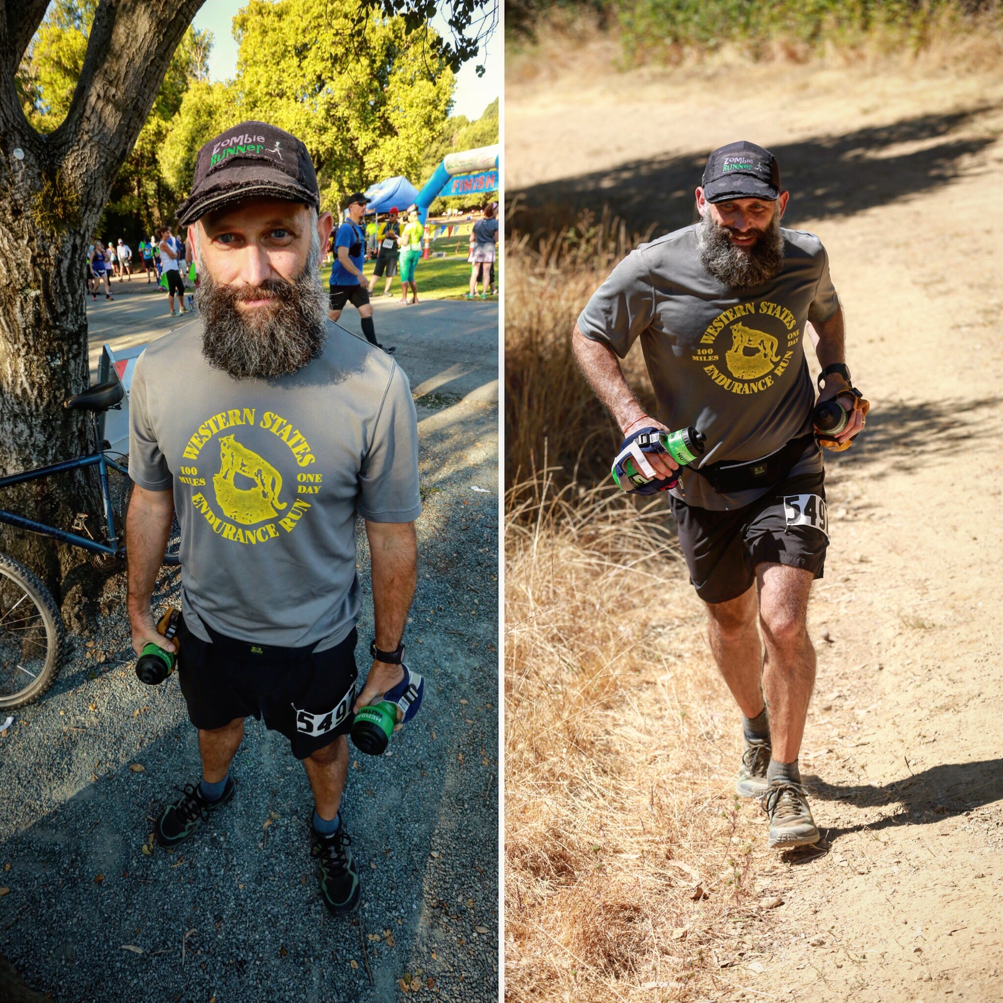 Before and during the Lake Chabot 50k