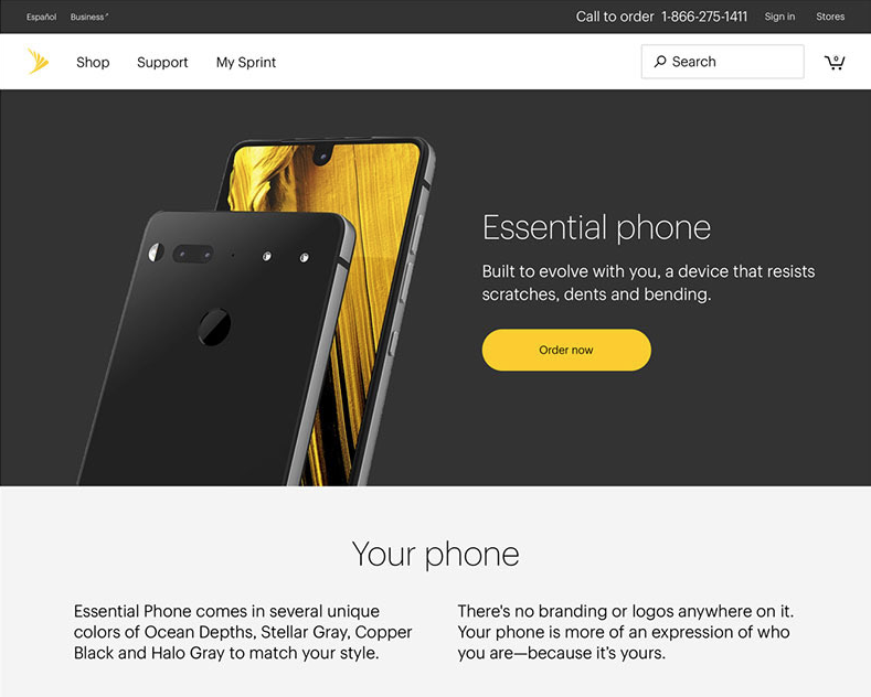 Sprint - Essential Landing Page
