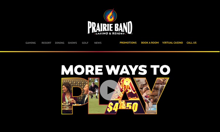 Prairie Band Casino - Website
