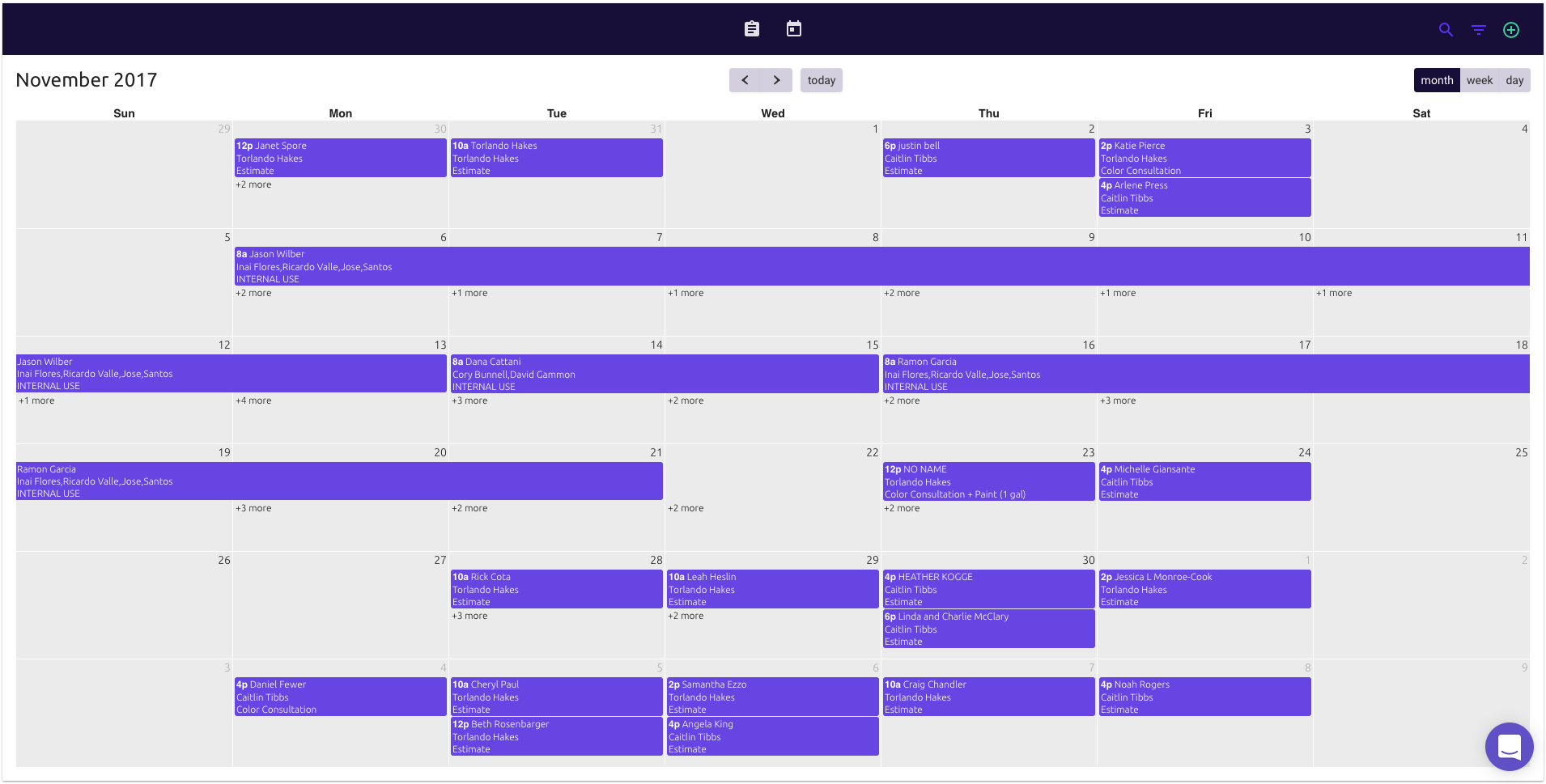 Assign &Track - Assign team members to specific jobs and keep track of them on the calendar. ColorBook can auto-assign team members to jobs as they come in. Adjust your schedule on the fly and even bill more hours.
