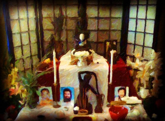 naga center altar, stylized