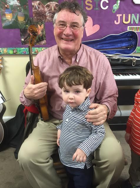 Pops Perkins plays the violin!