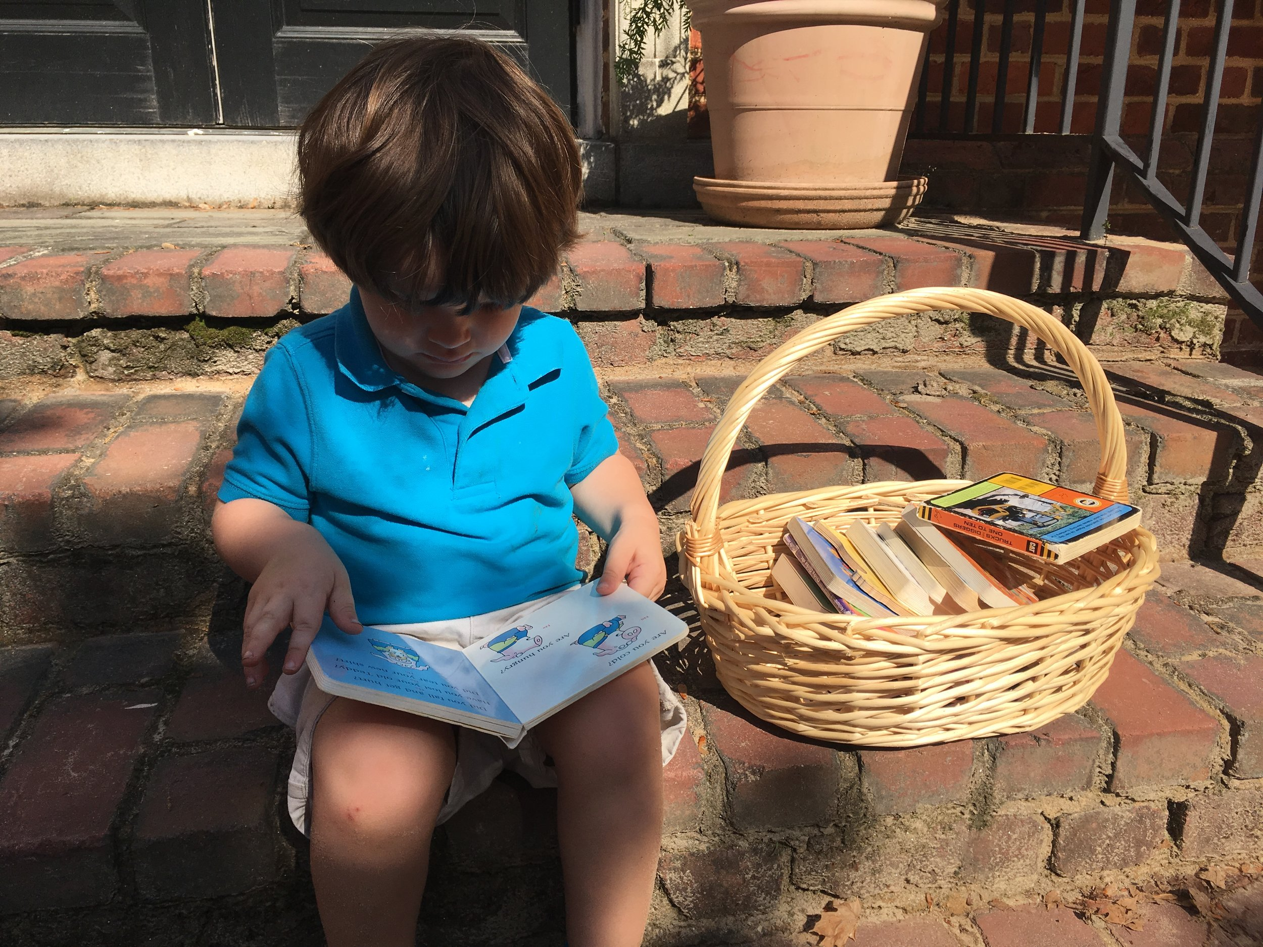 Dillon reading one of his favorite books!