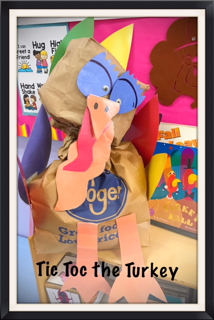Our participation turkey.....we crumpled up paper and stuffed our turkey.