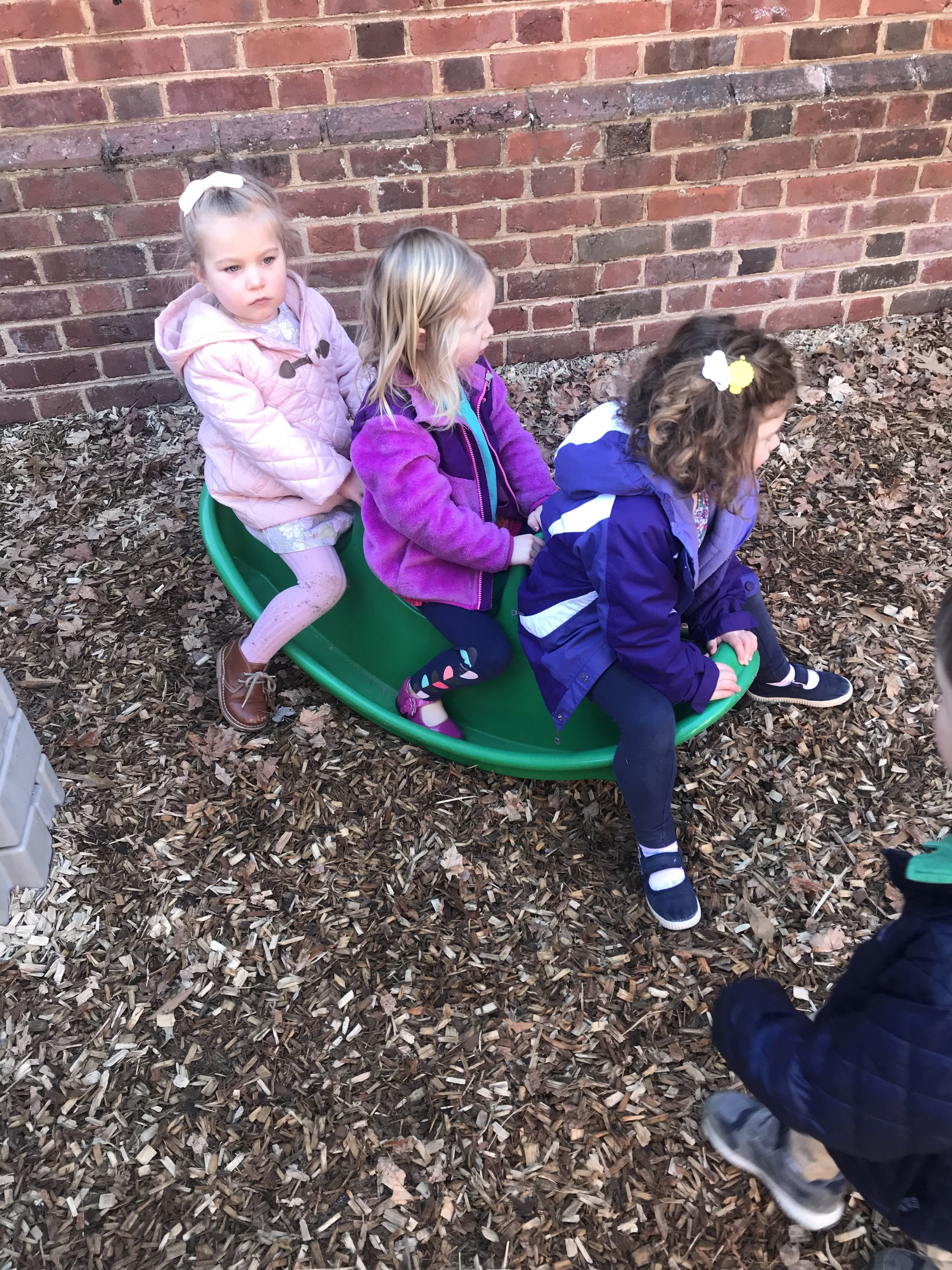 Working together on the see-saw.